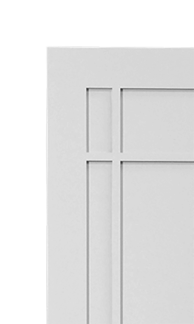 Macintosh wardrobe corner detail