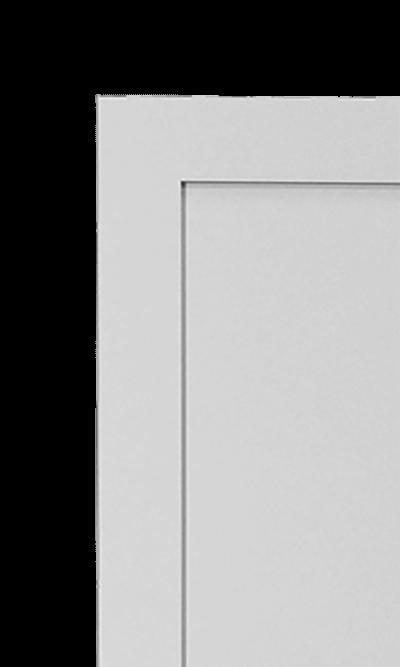 Shaker wardrobe corner detail