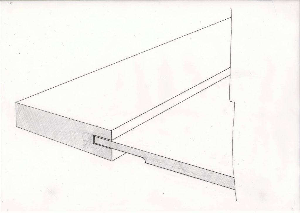 shaker style replacement kitchen cabinet door sketch