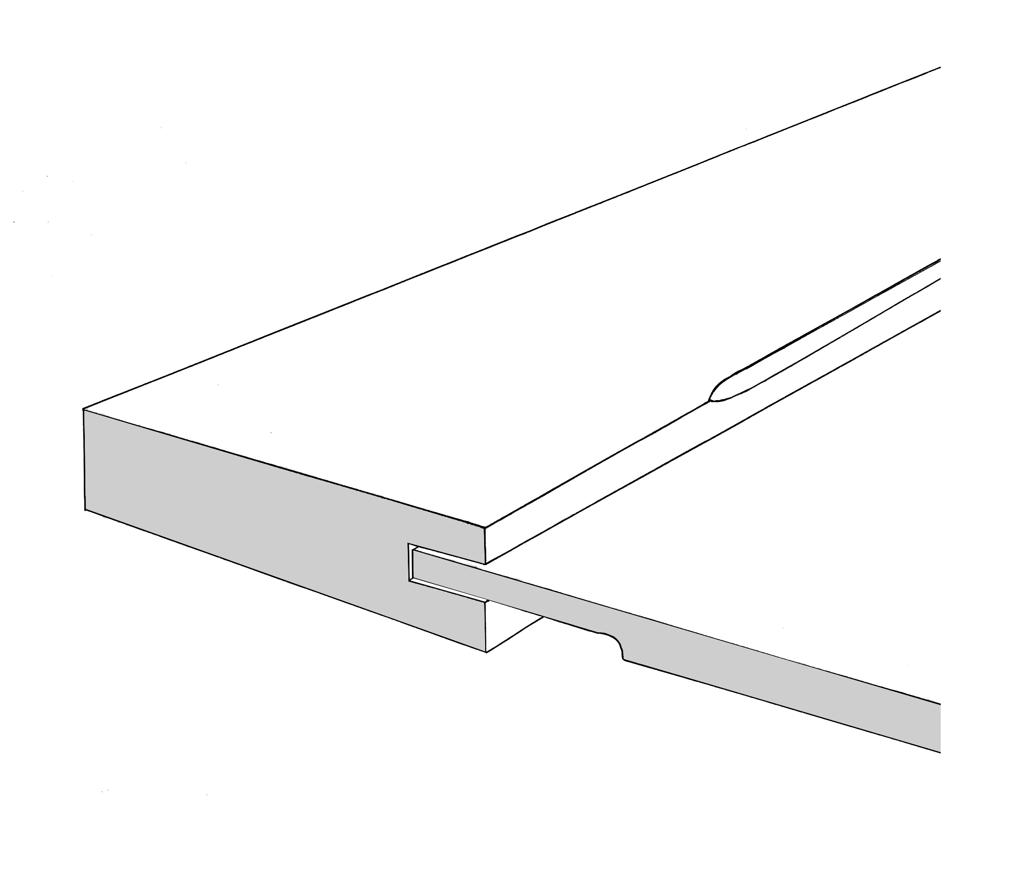 Chamfered section