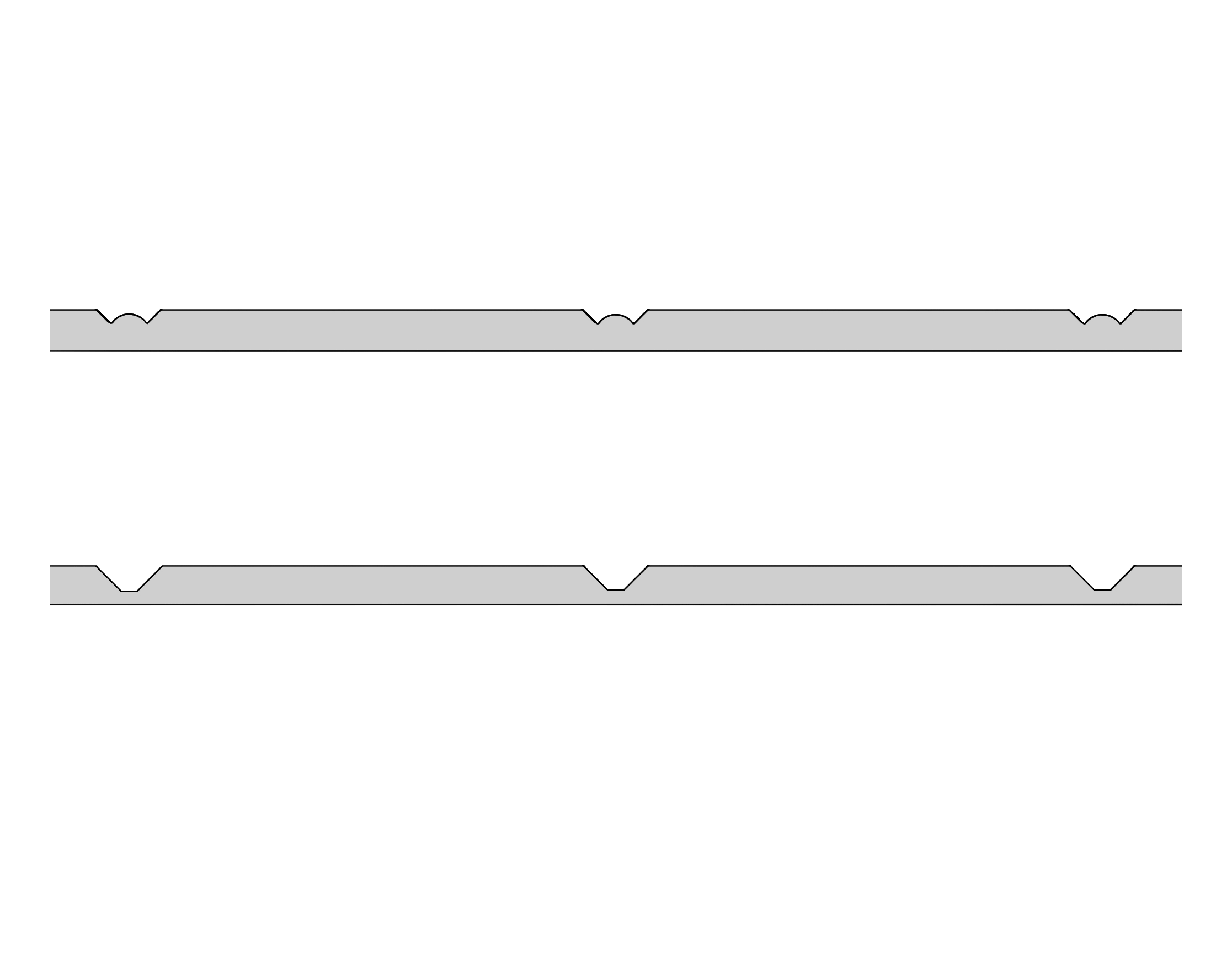 Flat Tongue and Groove section